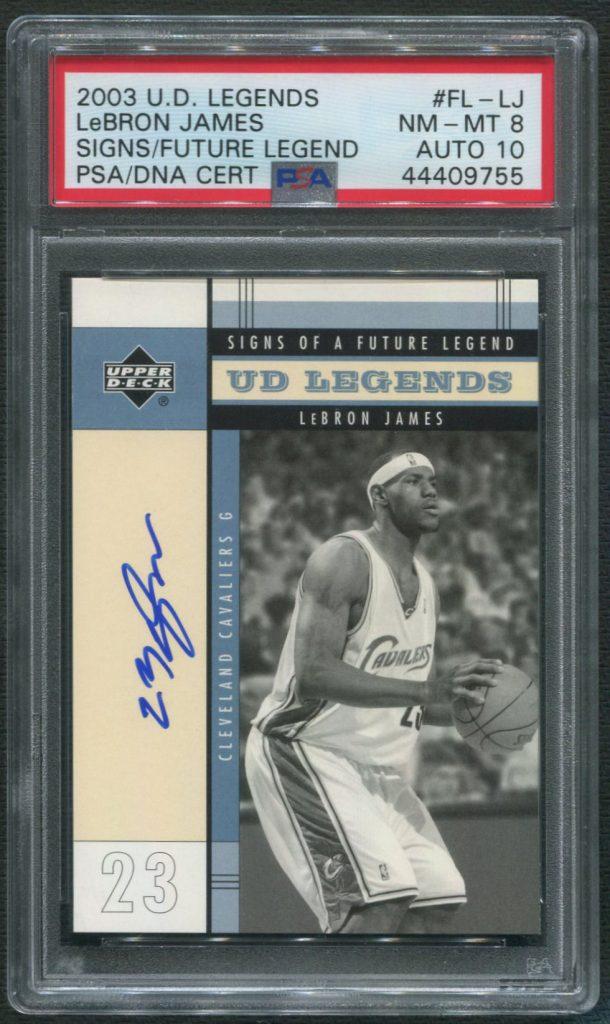 2003 Upper Deck LeBron James Autographed Card