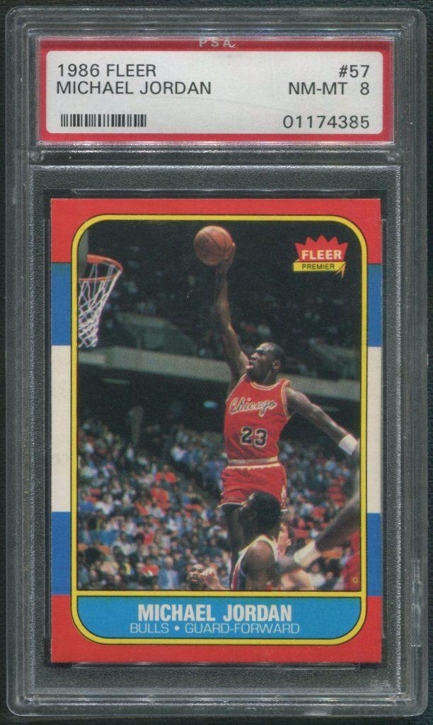 1986/87 Fleer Basketball Michael Jordan Rookie Card