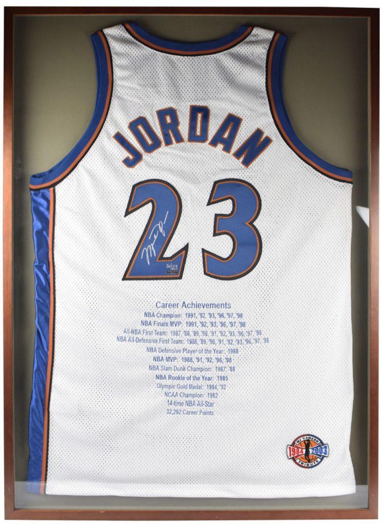 """Michael Jordan """"Career Achievements"""" Autographed Jersey"""