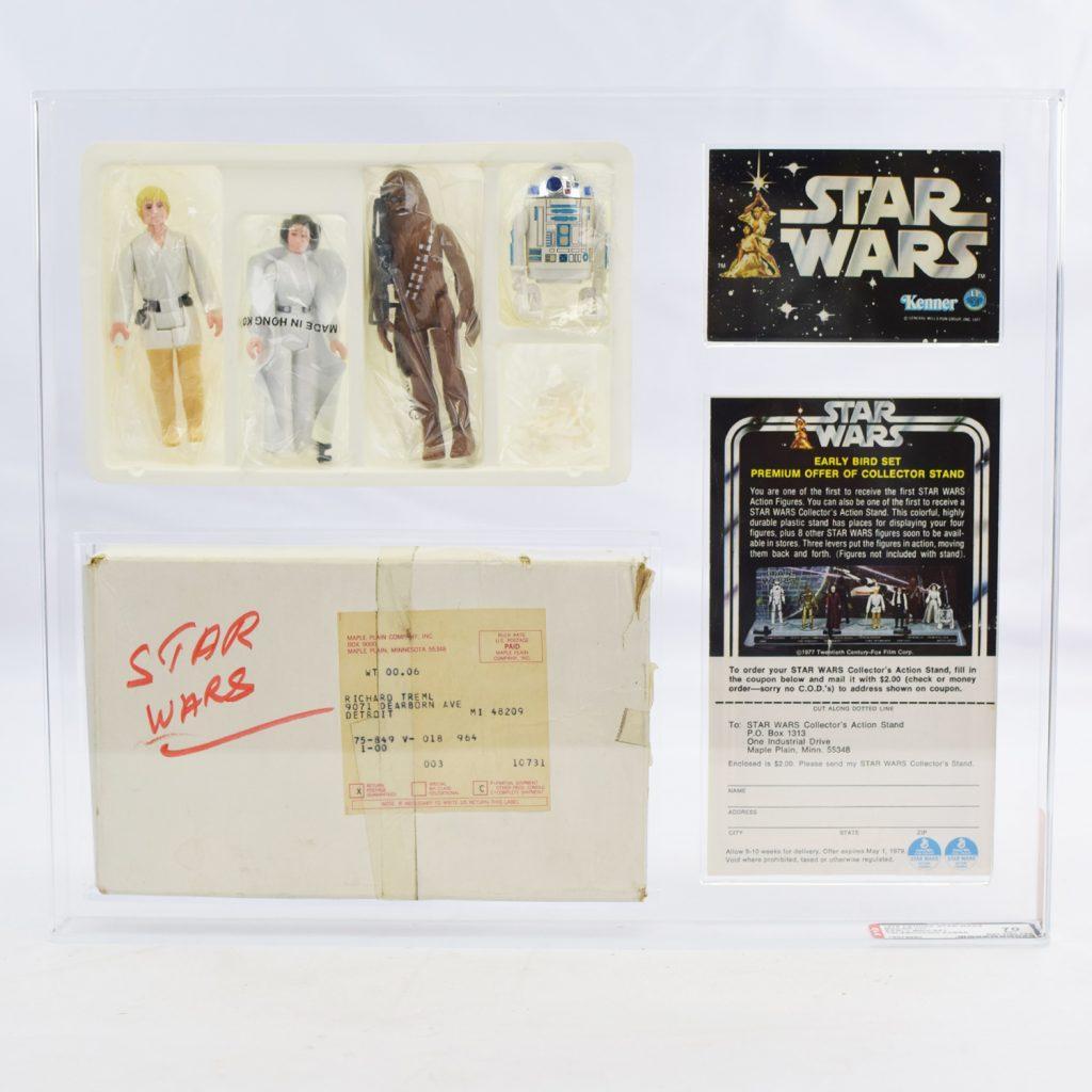 1978 Kenner Star Wars Figures Luke Skywalker, Princess Leia, Chewbacca, R2-D2
