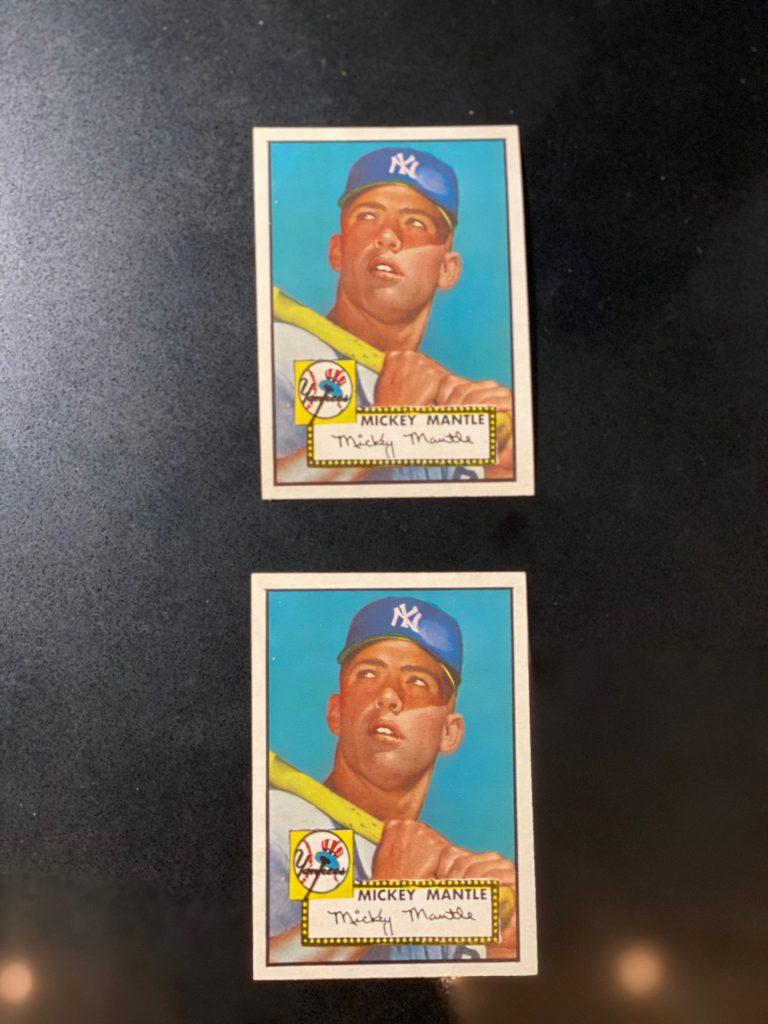 1952 Topps Mickey Mantle Rookie Cards