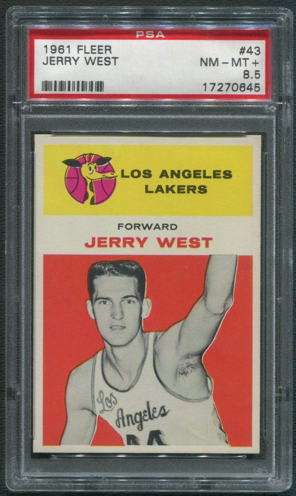 1961 Fleer Jerry West Rookie Card PSA 8.5