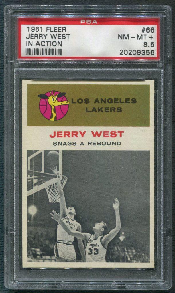 """1961/62 Fleer Jerry West """"In Action"""""""