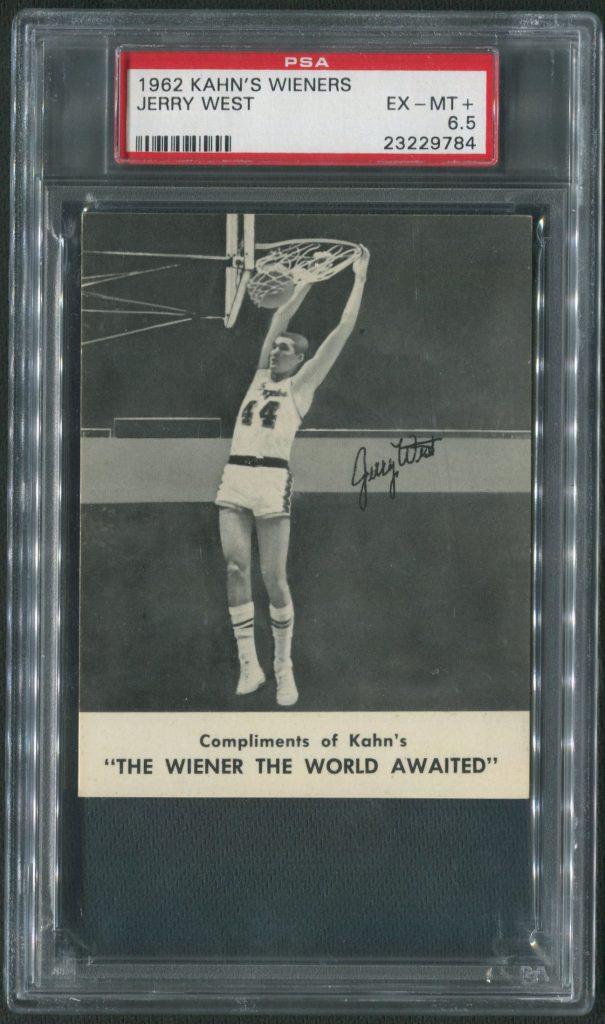 1962 Kahn's Wieners Jerry West PSA 6.5
