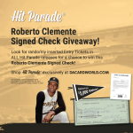 Roberto Clemente Signed Check Giveaway!