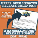 UPPER DECK UPDATES RELEASE CALENDAR